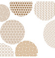 round geometric golden different patterns on vector image vector image
