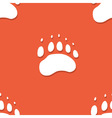 Seamless bear footprint pattern vector image