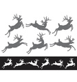 set different running and jumping christmas vector image