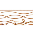 set isolated curvy 3d ropes strings cord vector image