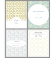 Set of retro invitation card on blurred background vector image vector image