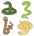 set of snake vector image vector image
