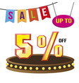 special 5 offer sale tag isolated vector image vector image