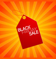 striped black friday composition vector image