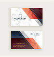 stylish marble business card design with vector image vector image