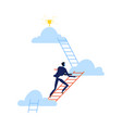 successful businessman climbing career ladder vector image vector image