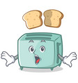 surprised toaster character cartoon style vector image vector image