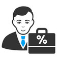 tax accounter flat icon vector image