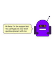 the blue chat bot this is the vector image vector image