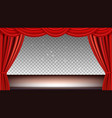 theater stage festive background audience movie vector image vector image