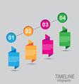 Timeline infographic element design vector image