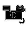 video marketing icon sign o vector image vector image