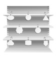 wobbler shelves promotion advertising informing vector image