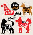 happy new year 2018 dog chines new year vector image
