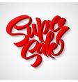 Super sale tag banner vector image