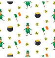 ireland saint patrick seamless pattern vector image