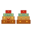 Travelers suitcases vector image