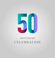 50 year anniversary celebration template design vector image vector image