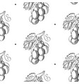 abstract berry monochrome seamless pattern vector image vector image