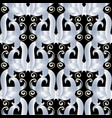 abstract floral seamless pattern black vector image vector image