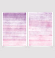 abstract pink and purple watercolor background vector image vector image