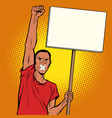 african man gagged protests vector image vector image