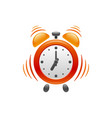 alarm clock with vibration icon vector image