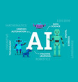 artificial intelligence with robots vector image