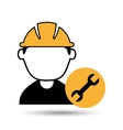 avatar man construction worker with wrench tool vector image vector image