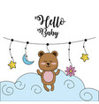baby shower to welcome a child in the family vector image