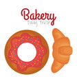 bakery product always fresh vector image