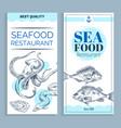 best quality seafood restaurant banner set vector image