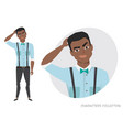 black african american man is pensive vector image