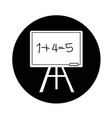 blackboard icon design vector image