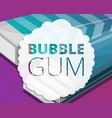 bubble gum stick pack concept background cartoon vector image vector image