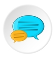 Bubble speech icon cartoon style vector image