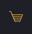 cart computer symbol vector image