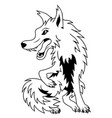 cartoon wolf vector image vector image