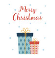 christmas card with cute gifts vector image