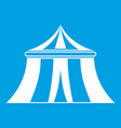 circus tent icon white vector image vector image