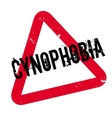 Cynophobia rubber stamp vector image vector image