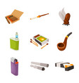 design tobacco and habit logo vector image vector image