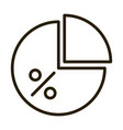 diagram pie chart report financial business stock vector image vector image