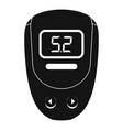 electronic glucometer icon simple style vector image vector image