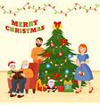 family christmas holiday celebration near vector image vector image