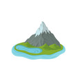 flat design of mountain with snowy peak and vector image vector image