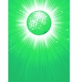 Green disco rays with stars EPS 8 vector image vector image
