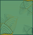 Green pattern with stylized leaves vector image vector image
