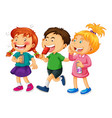group young children cartoon character vector image