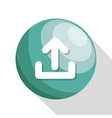 icon upload process design isolated vector image vector image